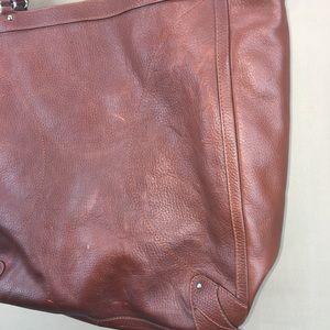 Cole Haan Bags - Cole Haan Brown Pebbled Leather Shoulder Tote Bag